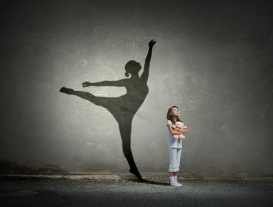 girl with ballerina shadow